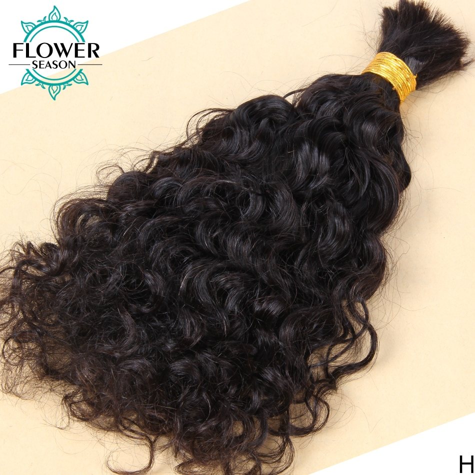Brazilian Loose Wave Hair Bulk 3Pcs/Lot Wet and Wavy Human Hair Bulk For Braiding No Weft Braids Extensions Flowerseason