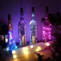 wine bottle copper wire fairy light led christmas decoration light garland christmas decoration new year bar decoration light