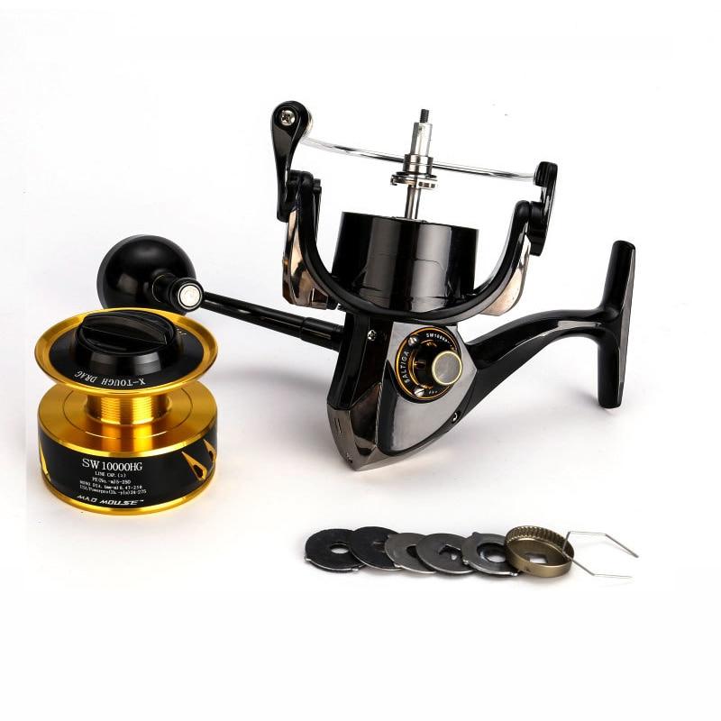 New Madmouse Japan Made Saltiga SW4000XG SW6000HG SW10000HG Spinning Jigging Reel Spinning reel 12BB Alloy reel 35kgs drag power enlarge