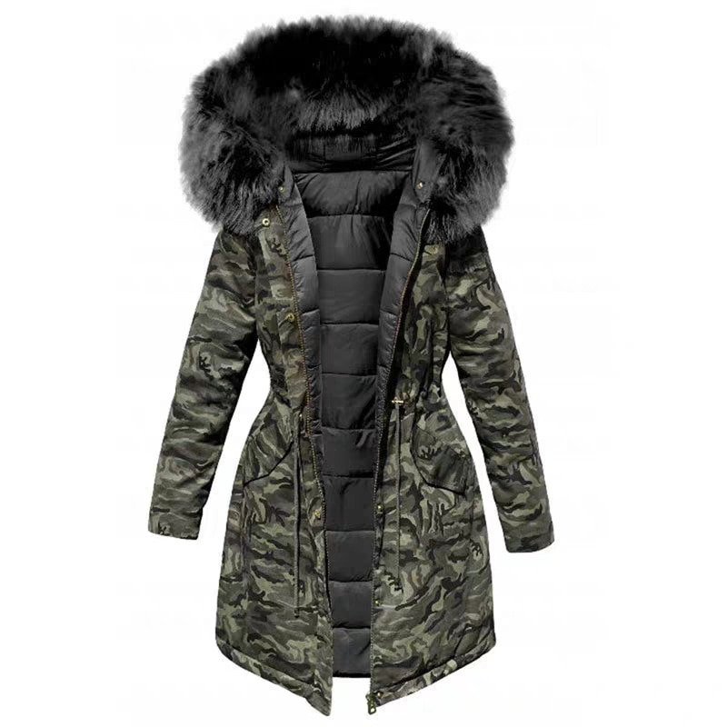 المرأة سترة الشتاء مقنعين سترات معطف الشتاء المرأة فضفاضة سترة الفراء طوق القطن معاطف مبطنة