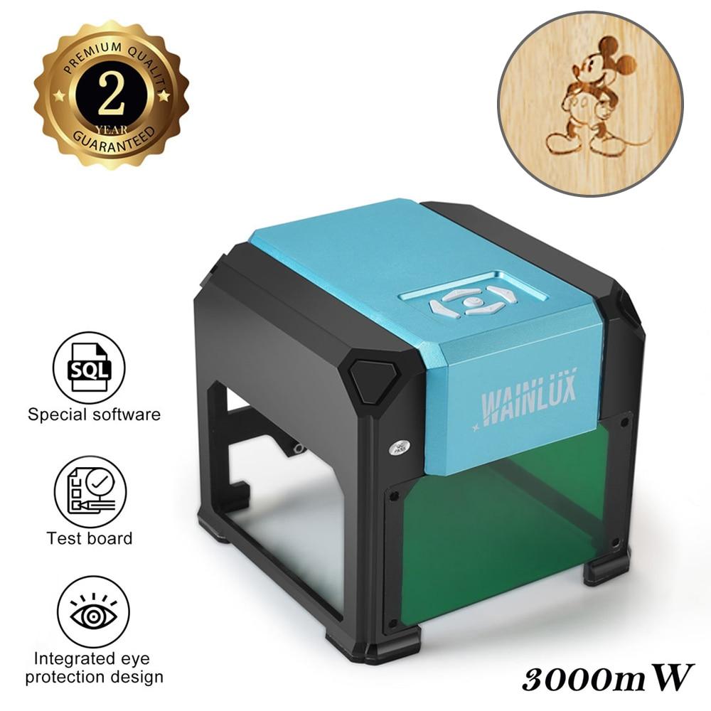 Wainlux K4 Laser Engraving Machine CNC 3000mW Update Blutooth DIY Logo Engraver Desktop Wood Router Cutter Printer APP Control