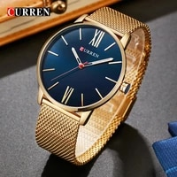 mens watch fine steel belt watch waterproof ultra thin watch quartz 2021 new