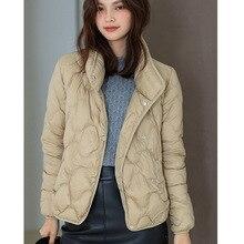 Hiver doudoune fine doudoune coton-rembourré veste femme 21073 joker bref paragraphe petit coton rembourré veste manteau