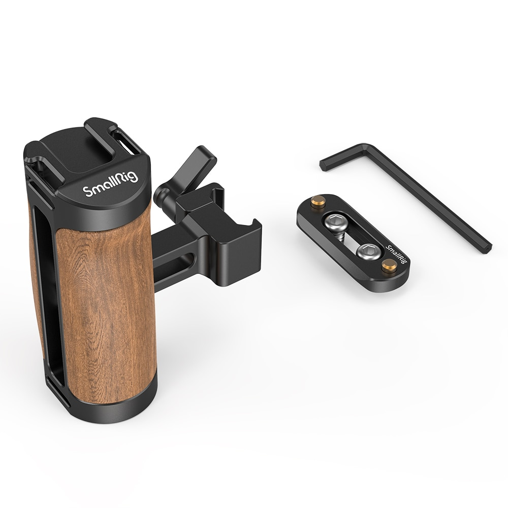 SmallRig Wooden NATO Camera Cage Side Handle with Quick Release NATO Rail 2978 enlarge