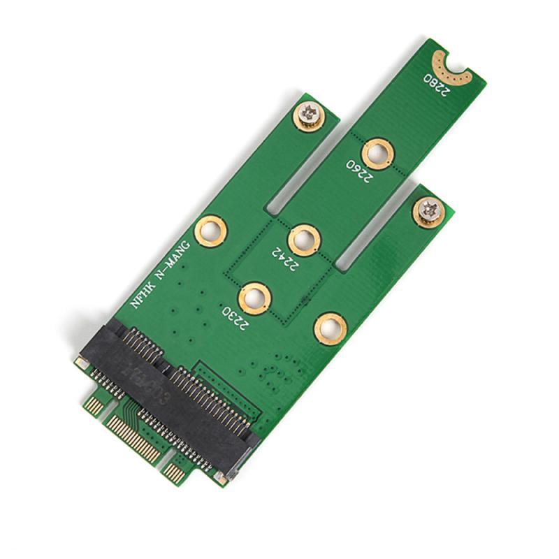 pci e to m 2 nvme ngff riser card m key b key hard disk drive adapter desktop hdd expansion card for mac linux windows NGFF M.2 B + M Key To MSATA Mini PCI-E PCI-Express SATA 3.0 SSD Male Converter Adapter Card For 2242/2260/2280 M2 Ngff SSD