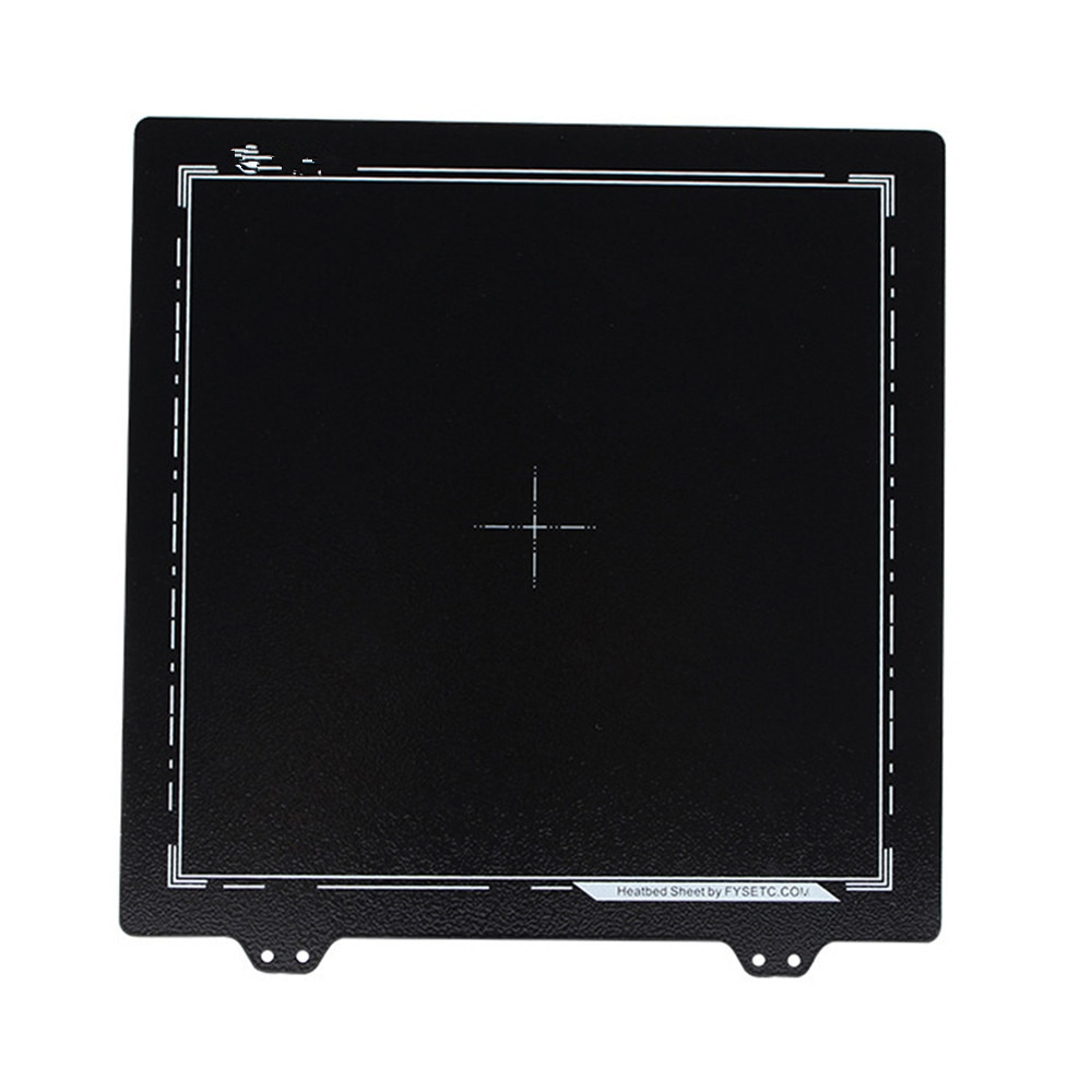 Impresora 3D de doble cara PEI hoja de acero con recubrimiento en polvo PEI placa de construcción 220*220MM para Prusa CR-20 Anet A8 A6 Tronxy XY-2