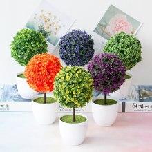1 bonsái de plantas artificiales, maceta para árbol pequeño, plantas, flores falsas, adornos en maceta para decoración del hogar, decoración de jardín de Hotel, bonsái