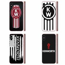 La cubierta del TPU del teléfono celular casos para Apple iPhone 11 Pro X XS X Max XR 4 4S 5 5C 5S SE SE2 6S 6 7 8 Plus famoso coche camión Kenworth logotipo