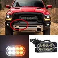 for car suv truck led lights lamps amber 8 leds 12v 24v hazard warning flash strobe light bar auto caution strobe flashlight new
