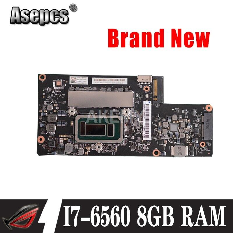 Para Lenovo YOGA 900-13ISK para Lenovo NM-A411 placa base de computadora portátil con 5B20K48454 BYG40 NM-A411 I7-6560U CPU 8GB de RAM
