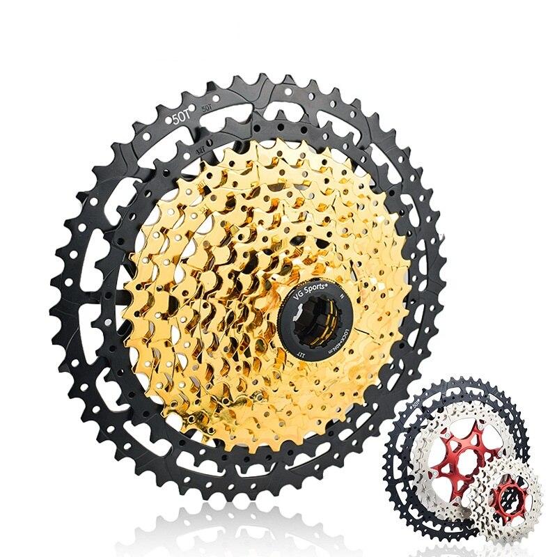 MTB 10 11 12 Speed Cassette Wide Ratio Freewheel Mountain Bike Sprocket 11-40T 42T 46T 50T Compatible with Shimano Sram Sunrace