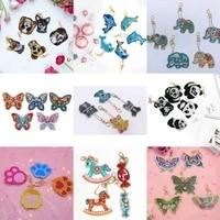 full drill diamond painting keychain a set cartoon animal decor car pendent diamond embroidery cross stitch gift