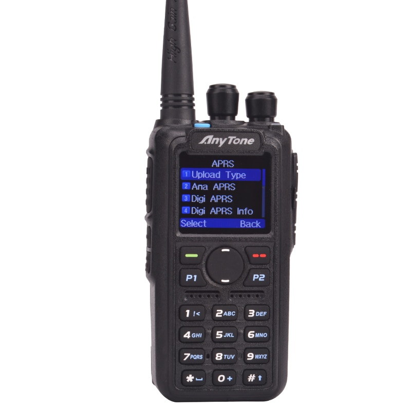 Anytone AT-D878UV PLUS Ham walkie talkie dual band digital DMR and Analog GPS APRS bluetooth PTT Two way radio with PC Cable enlarge
