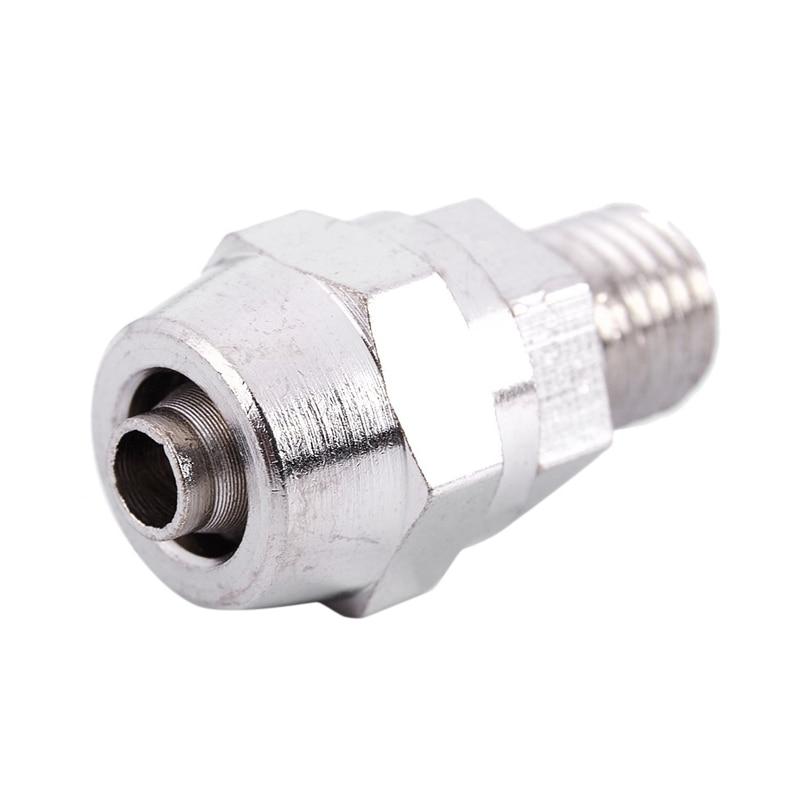 Conector neumático de manguera de aire M8 macho roscado 4x6mm acoplador rápido recto plateado
