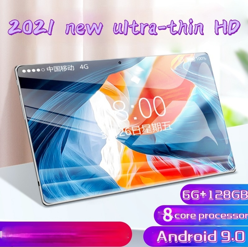 New Android 9.0 Tablet 10 Inch with 6GB + 128GB Memory Dual SIM Card Ipad Pro Phone 4G Call Phone Tablet Kids Tablet