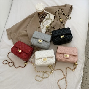 Fat little golden bag 2021 new fashion female package small sweet wind ling, chain bag single shoulder bag