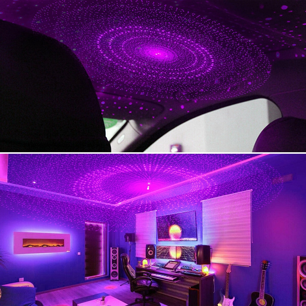 1 W USB Projektion Lampe USB 5 V Auto Decor Dekoration Innen Licht Nacht