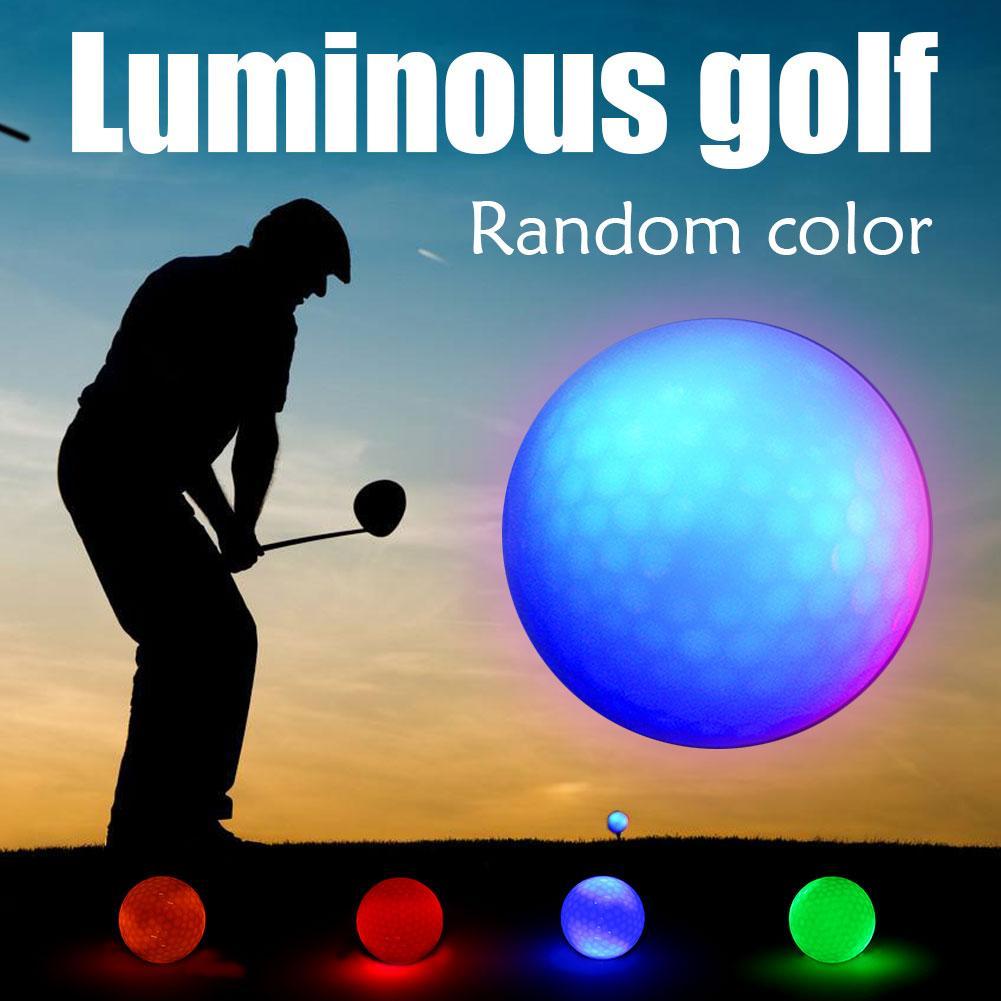 Luminous Night Golf Bälle LED Licht Up Golf Kugeln Glow In The Dark Helle Langlebige Wiederverwendbare Nacht Golf Ball 4 farben