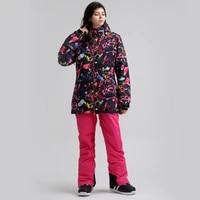 gsou snow snowboard suit winter water resistant windproof warm breathable ski suit children coat outdoor sport clothing