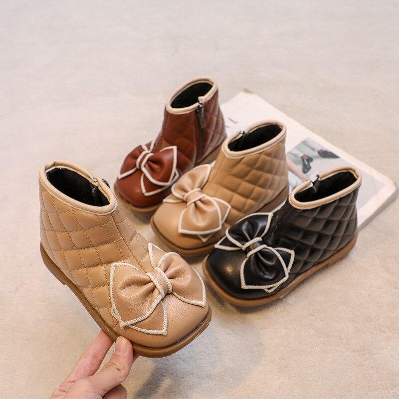 Children Maritn Boots 2021 New Autumn Winter Shoes Girls Waterproof Non-slip Ankle Boots Kids Leathe