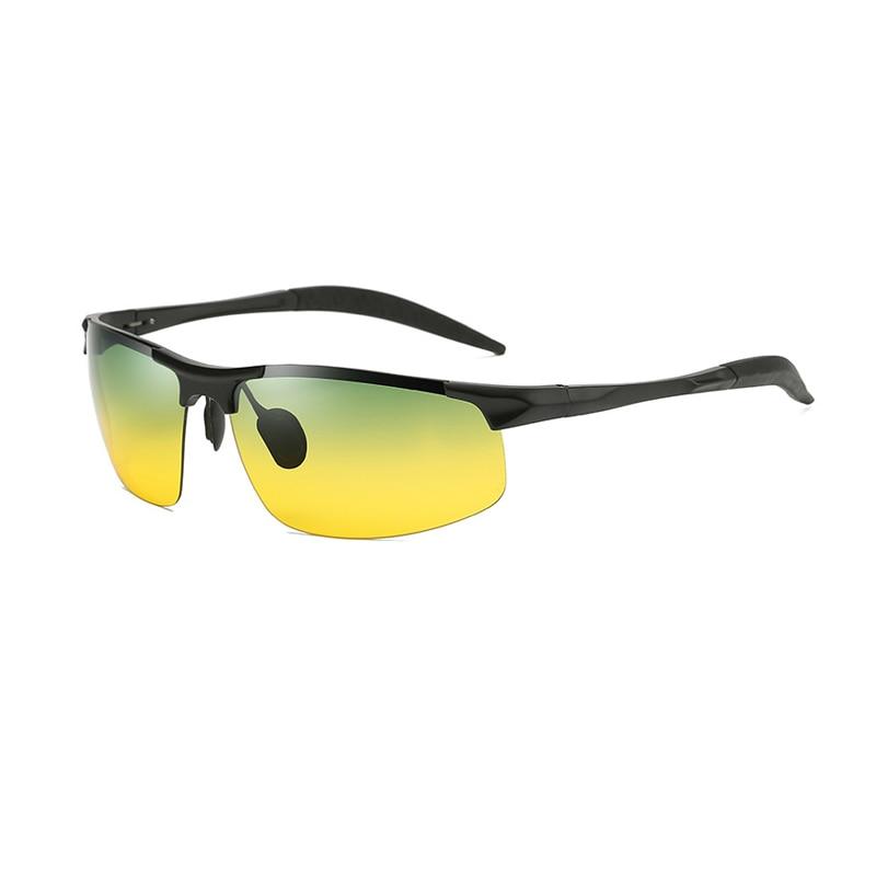 2021 Driving Men Sunglasses 3 Colors Metal Frame Black/Gold/Silver Half-frame Polarized Sunglasses