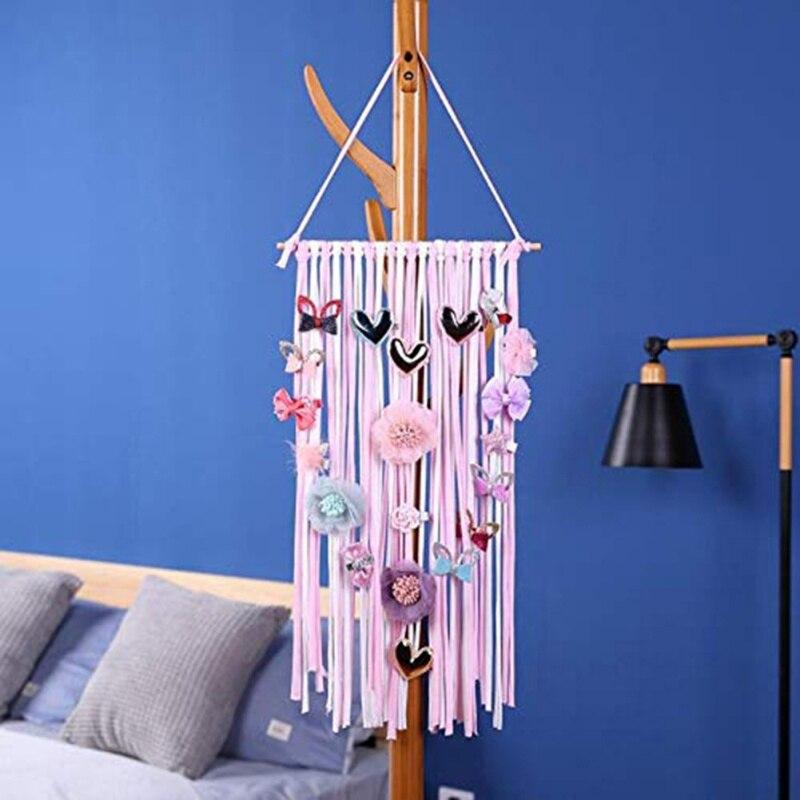 Clip para el cabello para niñas y bebés cinturón de almacenamiento para colgar en la pared decorativo