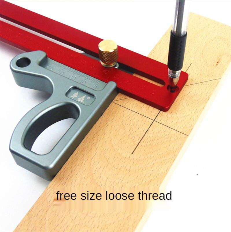 200/300/400mm 45 degree ruler Aluminum Woodworking Ruler Height Ruler Woodworking Scribe Woodworking Scribe Gauge Measuring Tool enlarge