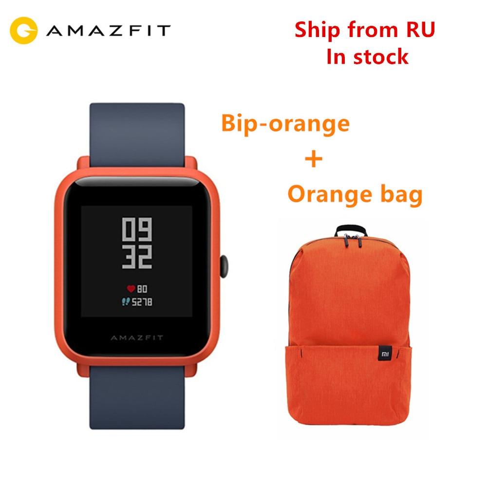 Amazfit Bip GPS Xiaomi Amazfit Bip Смарт-часы Huami Miband Pace Gloness Smartwatch пульсометр для телефона MI8 IOS доставка от RU