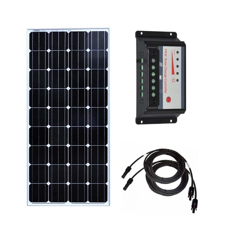 Kit Solar, 150w, 300w, 450w, Panel Solar, 150w, 12v, controlador de carga Solar, 12v/24v, 30A, PWM, conector de Cable PV para coche y caravana, Camping, RV