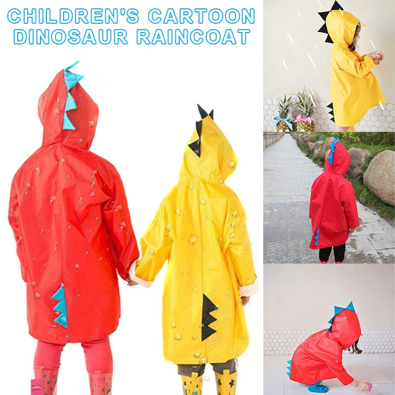 Bebé niño chico chubasquero para niña para niños dinosaurio lluvia capa de dibujos animados impermeable con capucha cubierta impermeable NSV775