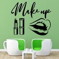 Autocollants muraux en vinyle pour Salon de beaute a la mode  decoration de maison  pour chambres denfants  papier peint de decoration de fete a domicile