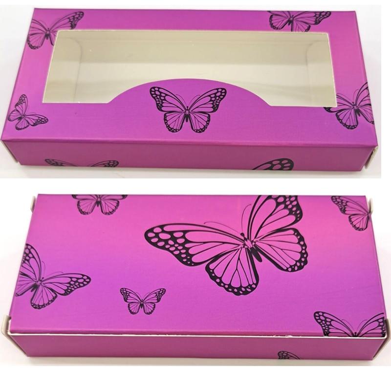 Caja de embalaje para pestañas postizas, 50 Uds., paquete en blanco, caja de papel Multicolor de 25mm, caja de embalaje para pestañas DIY