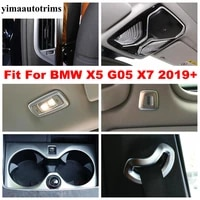 pillar b ac vent reading lights lamps water cup holder panel cover trim matte interior kit for bmw x5 g05 x7 2019 2020 2021