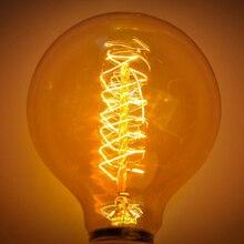 Винтажная лампа Эдисона лампа накаливания домашний Декор Ретро лампа Эдисона E27 220 В 40 Вт ST64 G80 G95 G125 ампула