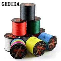 GHOTDA 300 м 8X 4X рыболовная фирма супер сильная японская мультифиламентная PE плетеная леска 8 нитей 4 прядей