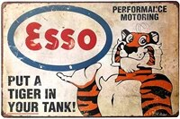 put a tiger in your tank gas station retro metal tin sign plaque poster wall decor art shabby chic gift