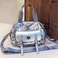 fashion trendy large capacity one shoulder messenger new sequin handbags women bags designer carteras mujer de hombro y bolsos