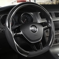 car steering wheel cover d shape for vw golf 7 2015 polo jatta passat tiguan for nissan qashqai j11 x trail t32 2015 2017 2018