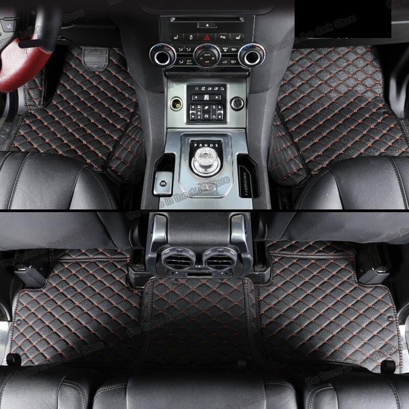 Lsrtw2017 de coche de cuero piso mat para range rover L405 2020, 2018, 2019, 2017, 2016, 2015, 2014, 2013, 2012 alfombra Accesorios