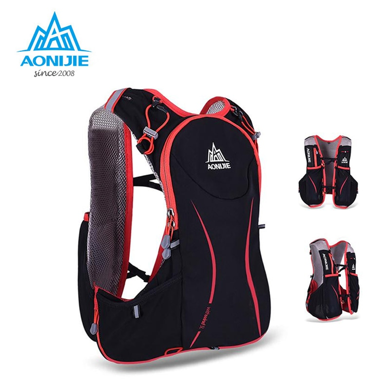 Bolsa AONIJIE 5L para correr al aire libre, mochila de hidratación Maratón, bolsa ligera para senderismo, chaleco