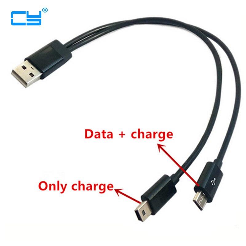 USB 2 en 1 Cable usb a Mini-USB Mini usb Y micro...
