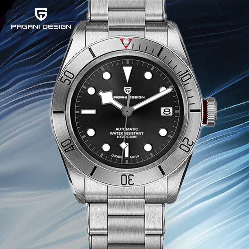 2021 جديد PAGANI تصميم BB58 الرجال الساعات الميكانيكية ساعة للرجال الفاخرة التلقائي ساعة الرجال مقاوم للماء الفولاذ المقاوم للصدأ الذكور