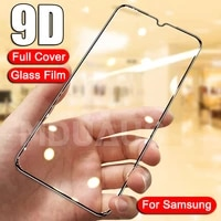 9D Tempered Glass For Samsung Galaxy A02 A12 A32 A42 A52 A72 F41 F62 Screen Protector Glas M02 M12 A01 A51 A71 Protective Glass