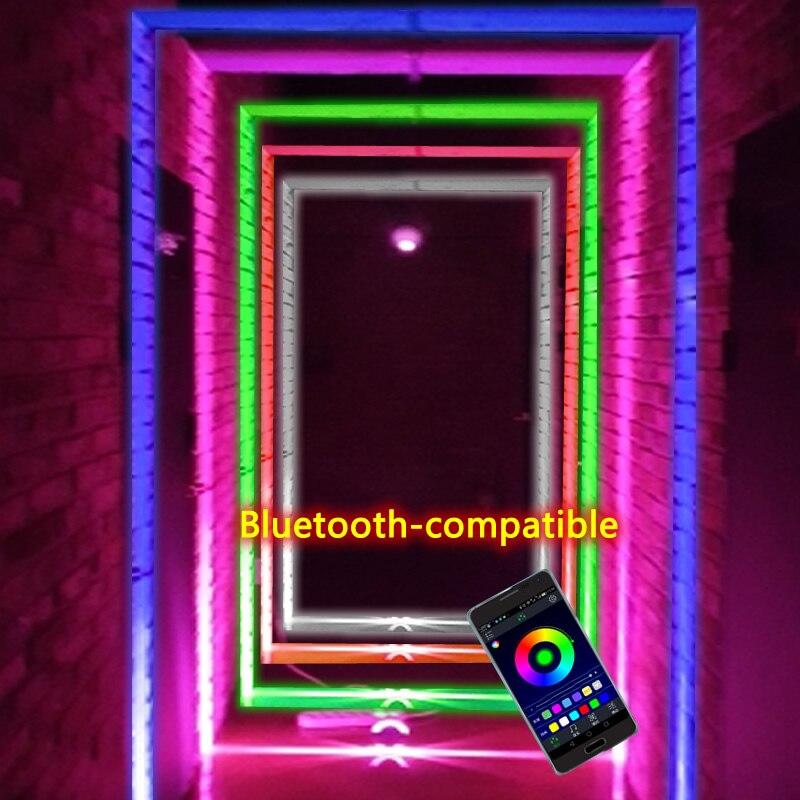 12 واط RGB LED عتبة النافذة الخفيفة لباب إطار يعلق على الحائط KTV فندق بار الممر مصابيح لاسلكية وحدة إضاءة LED جداريّة 360 درجة مقاوم للماء IP67