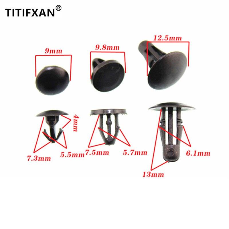 Abrazadera de tira de sellado de goma para puerta de 15 Uds para Nissan Teana Sylphy Tiida, Geniss, Livina, Qashqai x-trail sujetador de plástico