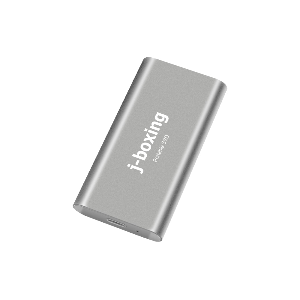 J-boxing Super Fast SSD 256GB External Solid State Drive Portable – USB-C USB 3.0 for PC/Laptop/Mac/Android/Xbox/PS4  Silver
