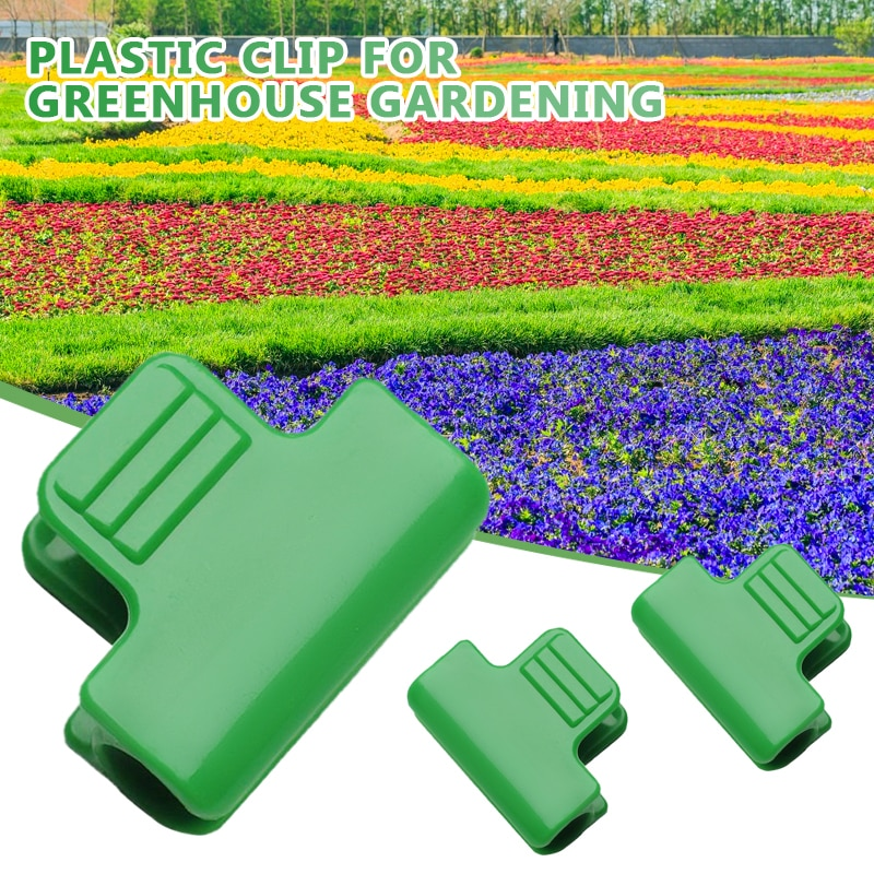 Greenhouse Clamp Plant Clip Film Plastic Bracket Row Cover Net Clip Plant Support Greenhouse Film Clamps Fastener Garden Tools