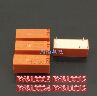 new original relay 10pcs lot myaa024d myaa024d 24vdc 24v 5a 4pin NEW Original 5pcs/lot RY610024 24VDC 24V Relay 8A 5PIN RY610024 Wholesale one-stop distribution list