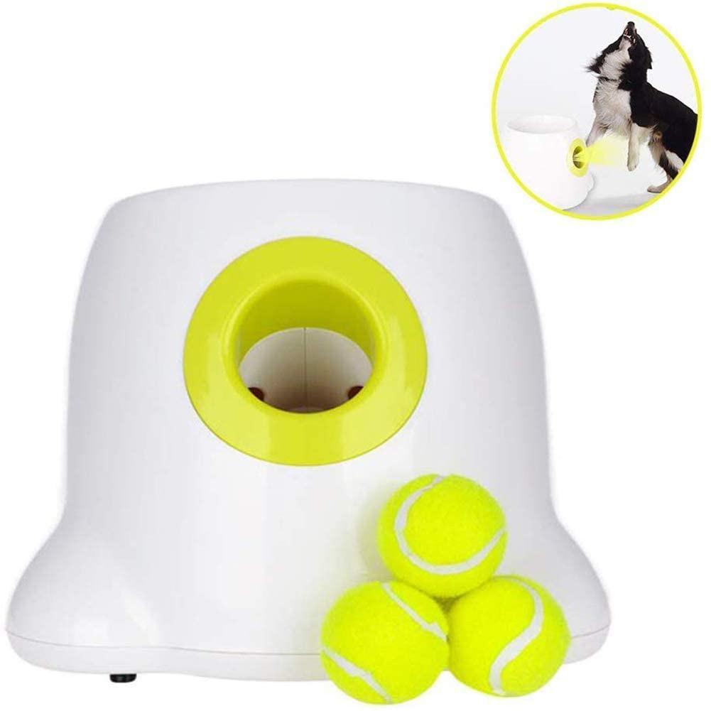 Interagindo automático brinquedos cão bola de tênis lançador pet jogar treinamento para fping ao ar livre indoor