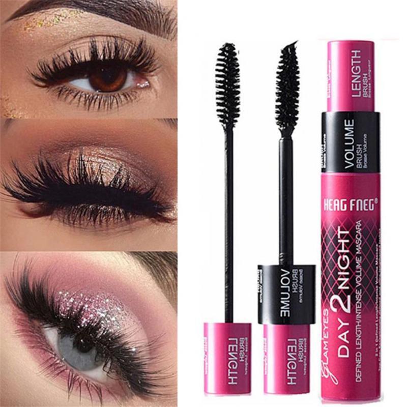 Women 4D Mascara Silk Fiber Eyelash Extension Waterproof Kit Eye Lashes Thick and Lengthen Curling TSLM1